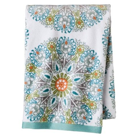 Threshold™ Medallion Towel - Blue. Another thing about picking patterned towels is that you won't get yours mixed up with your roomate's in the wash.