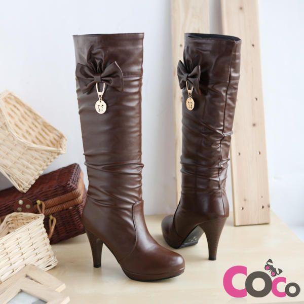 Brown Leather Cute Winter Boots | My Style | Pinterest
