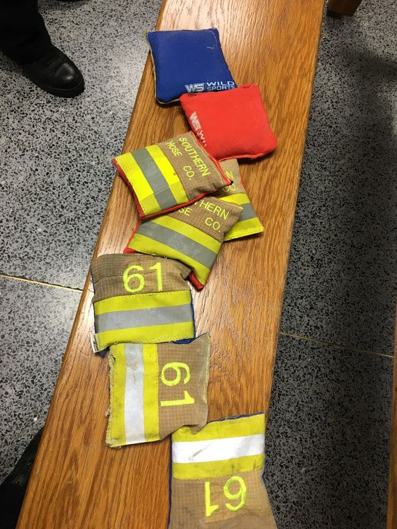 Station Cornhole Bags First Responder by UPcycledFirefighter