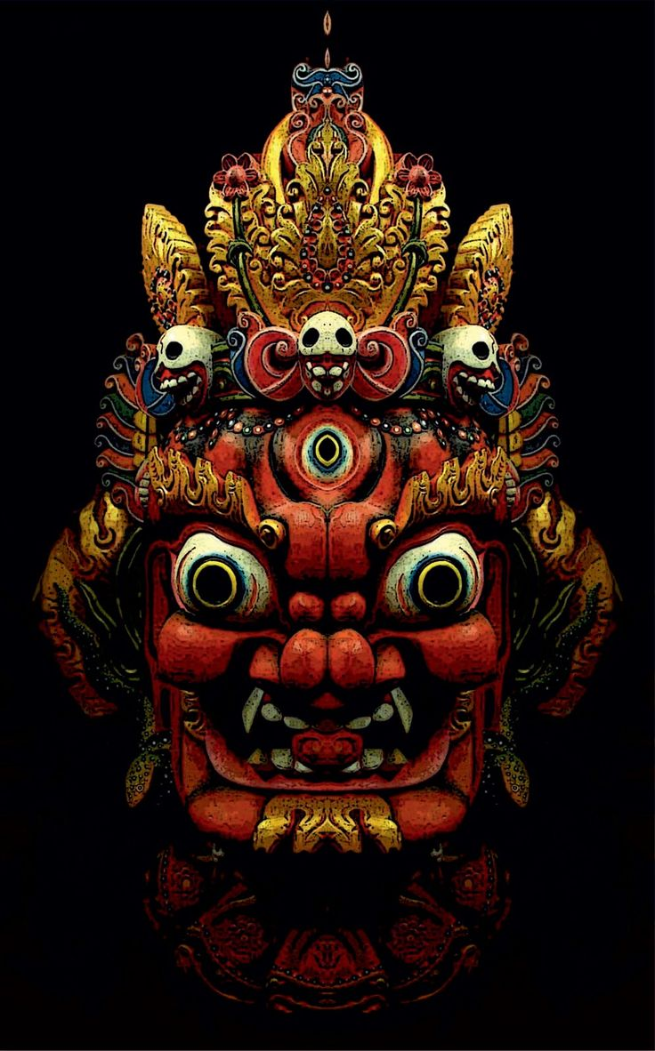 "#Nepalese #mask. ""Masks allowed the wearer to momentarily relieve themselves of their extremely dishonest everyday 'masquerade' of being a secure, sound, well-adjusted, happy person, and let the truth out, which could be very therapeutic for both the wearer and the observer."" Jeremy Griffith"