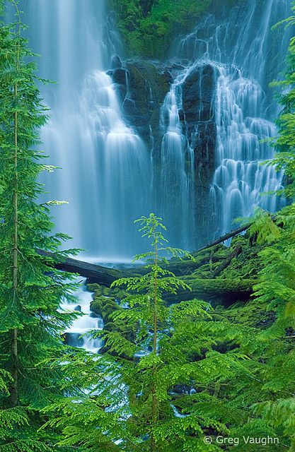 Three Sisters Wilderness, Oregon, USA.  One of 15 beautiful waterfalls on this website.