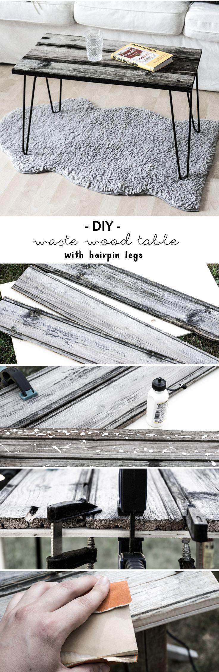 Elegant DIY Tisch aus Altholz mit Hairpin Legs Do it Yourself Idee Anleitung Tutorial