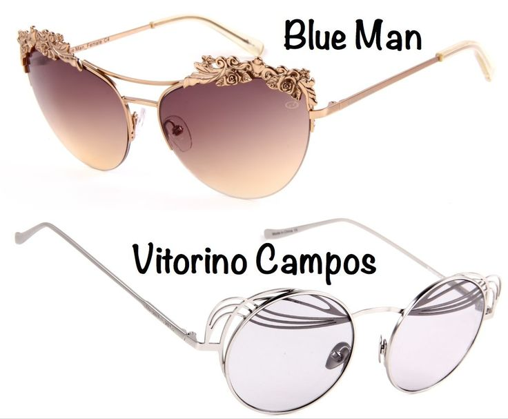 Os óculos de sol e de grau da Chilli Beans desfilados no SPFW: Blue Man e Vitorino Campos.