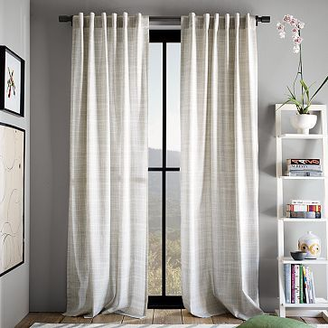 Just put these curtains in my master bedroom and LOVE the defussed light that comes in in the morning.  Calming.  cotton canvas crosshatch panels $34 - $39