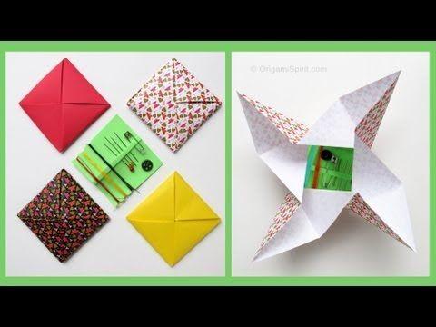 ▶ Origami Envelope -Menko :: Sobre Cuadrado - YouTube