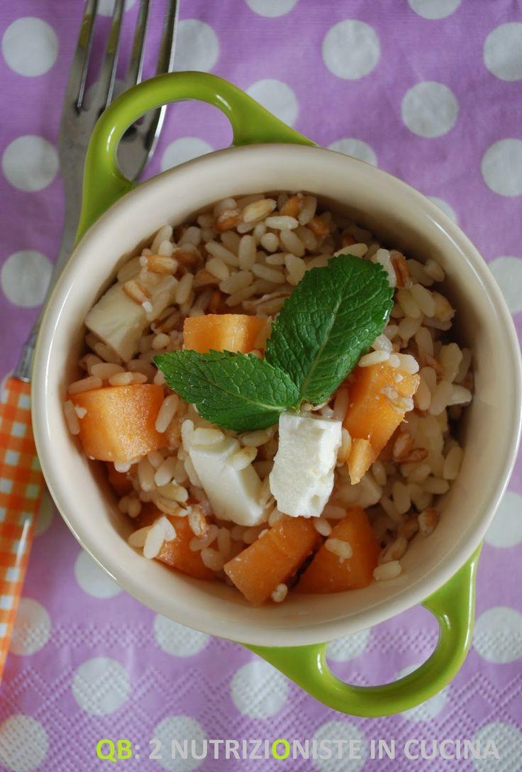 Q B Le ricette light: Tris di cereali con melone e feta