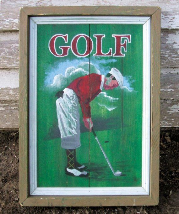 items similar to antique vintage looking wood golf sign home decor office on etsy