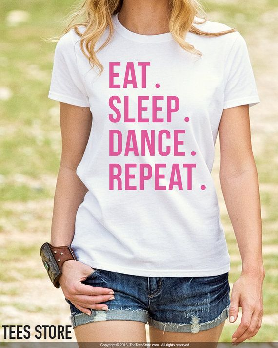 A premium Dance shirt customized with a durable print. HOW TO ORDER: From drop down menu, please choose the following for each shirt: - Size - Shirt