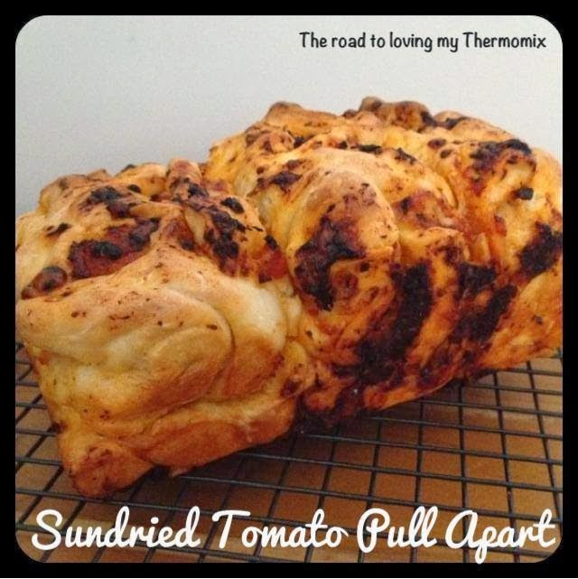 The road to loving my Thermomix: Sun Dried Tomato Pull Apart