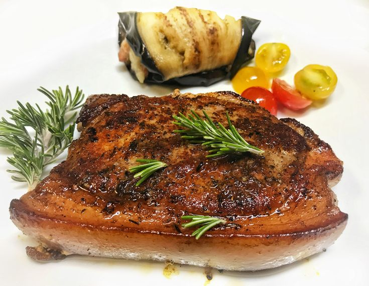 Pork steak insous-vide
