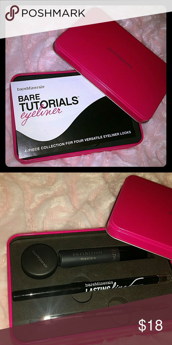 Bare minerals eyeliner kit Brand new eyeliner tutorial by bare minerals eyeliner isn't really my thing got as a gift I did open the powder and mascara to see what they looked like but never used. bareMinerals Makeup Eyeliner