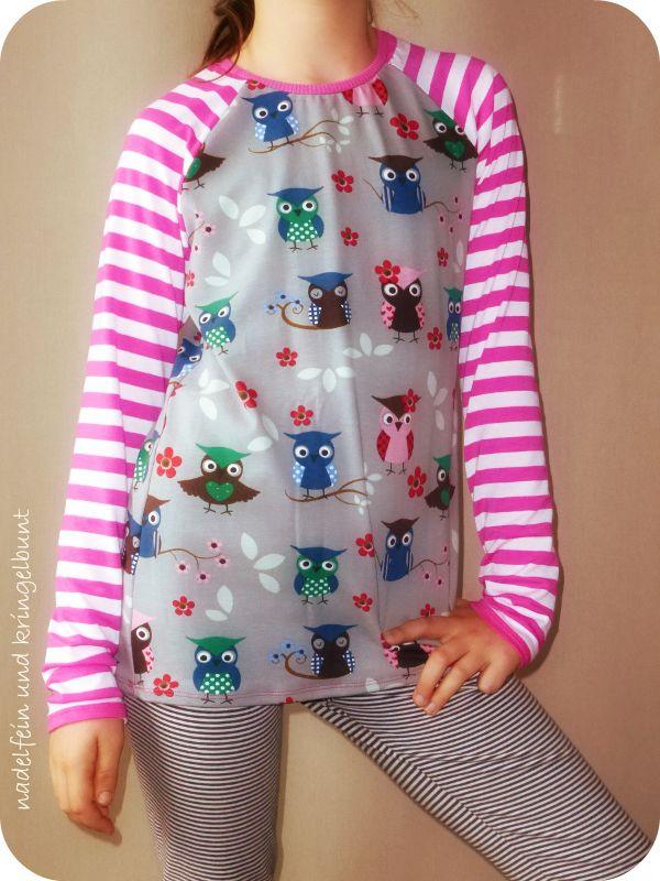 nadelfein und kringelbunt selbstgen htes raglan shirt ruler aus der ottobre kids 3 2013 n hen. Black Bedroom Furniture Sets. Home Design Ideas