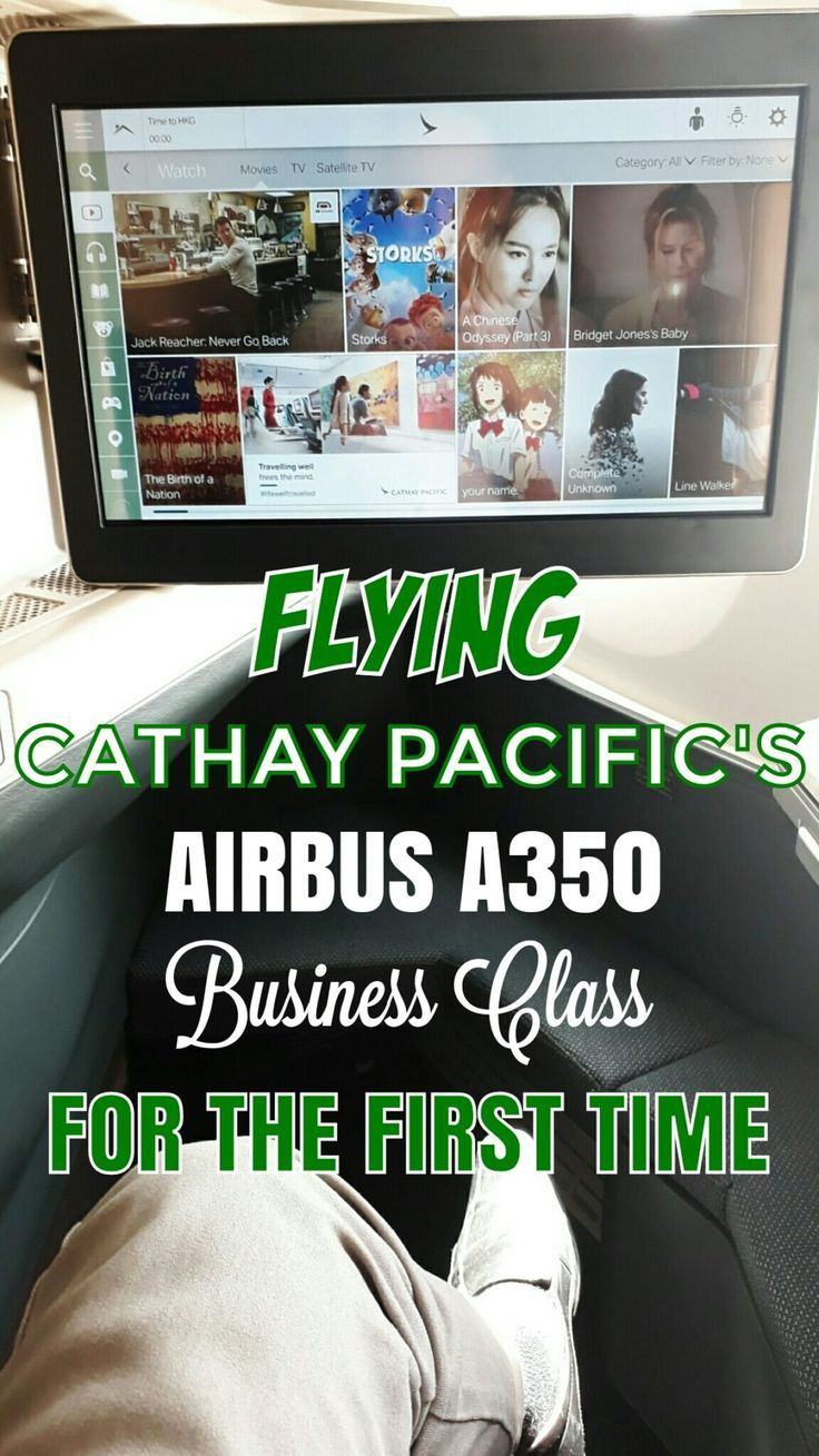 Flying Cathay Pacific's Airbus A350 Business Class