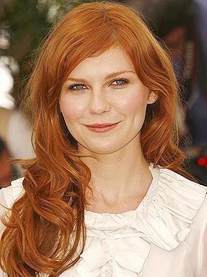 Gorgeous long ginger waves actress Kirsten Dunst had for Spider-man 3.
