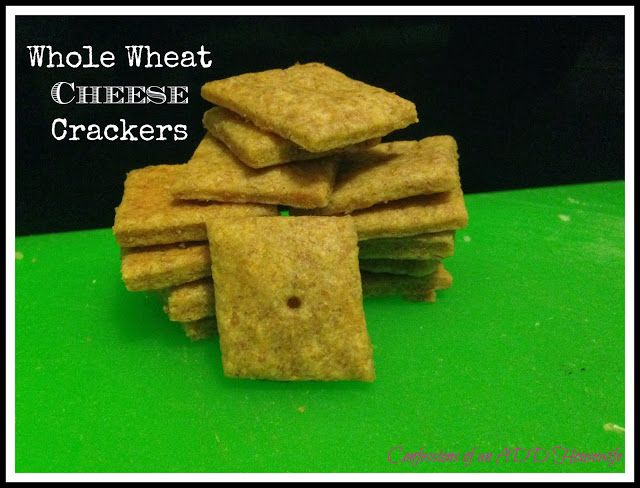 Whole Wheat Cheddar Crackers Recipe — Dishmaps