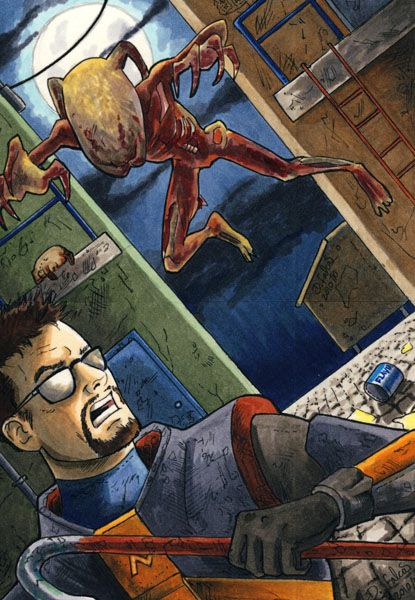 Gordon Freeman vs Zombie ATC by Psamophis on DeviantArt