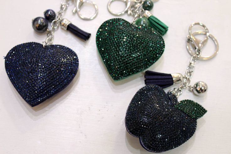 Apple & Heart decoration for bags or keyrings