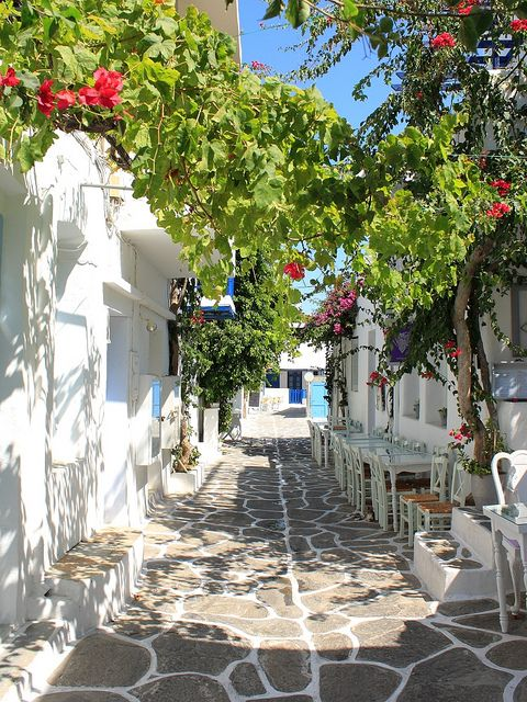 Naoussa white alley , Paros Island,  Light & Shadows  Taken in Naoussa, Paros, Greece.