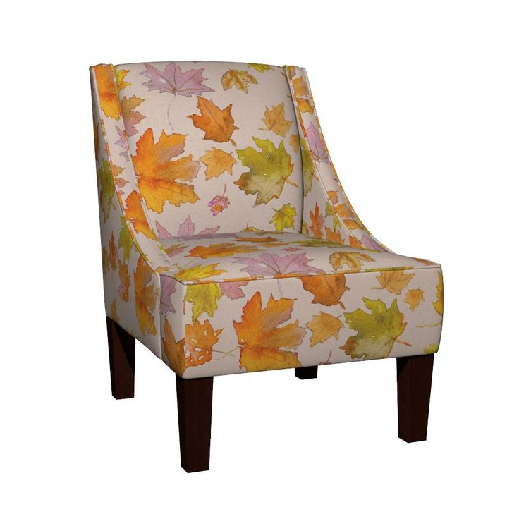 Venda Sloped Arm Chair featuring Autumn Leaves (large) by mariden   Roostery Home Decor
