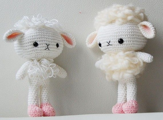 Free Crochet Pattern Baby Lamb : Amigurumi Crochet Lamb Pattern - Cloudy the Lamb - Softie ...