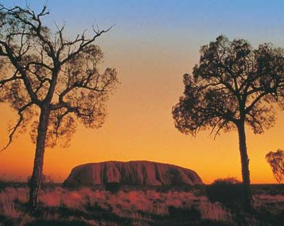 Ayers Rock at sunset, Australia