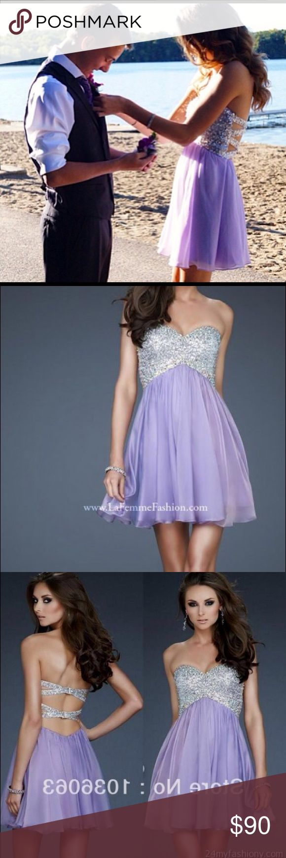 Short Purple and Silver Prom or Homecoming dress Great Quality, and Super cute! Got tons of Complements and it's in Perfect Condition! Dresses Prom
