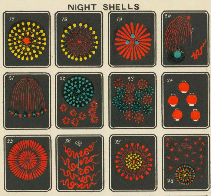 Gorgeous Japanese Firework Illustrations From The Late 1800s In