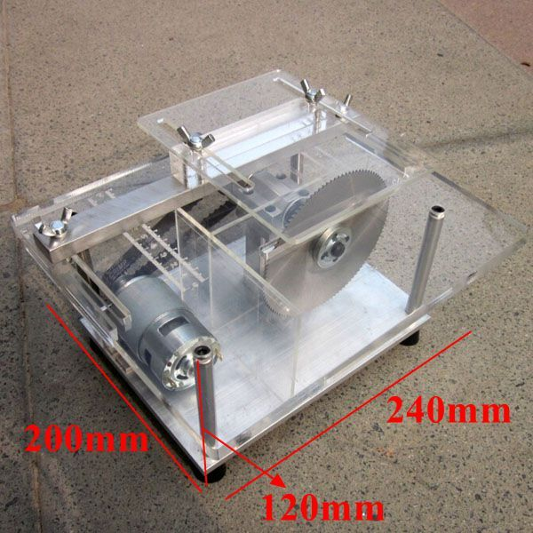 DIY Mini Bench Table Saw Handmade Woodworking Model Saw With Ruler 25mm Sale-Banggood.com