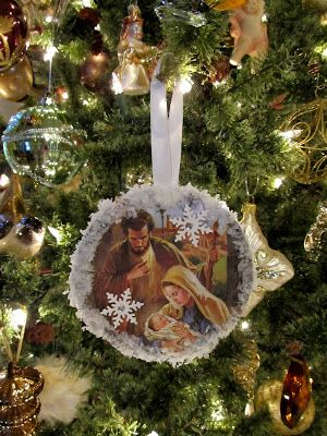 Cottage Hill: Vintage Style Recycled CD & Christmas Card Ornaments
