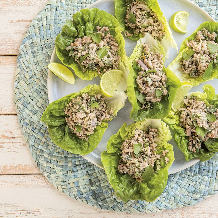 Pork Larb in Lettuce Cups