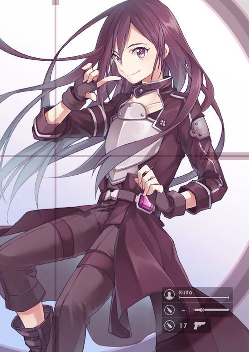 Kirito | Sword Art Online -----attention people! this cute chick is a dude!
