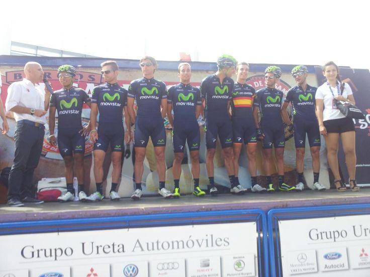 #VueltaBurgos Movistar inc. Nairo Quintana