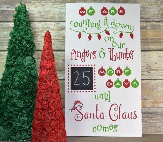 Christmas Countdown Sign - Countdown to Christmas - Santa Countdown - Days to…
