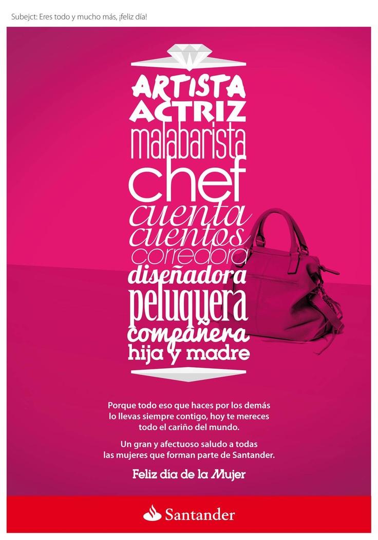 Saludo día de la mujer Santander.