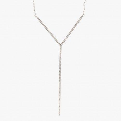Collier or blanc et diamants - VANRYCKE