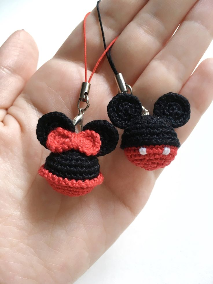 Disney Minnie Mouse Keyring Crochet Mickey Mouse Key Chains