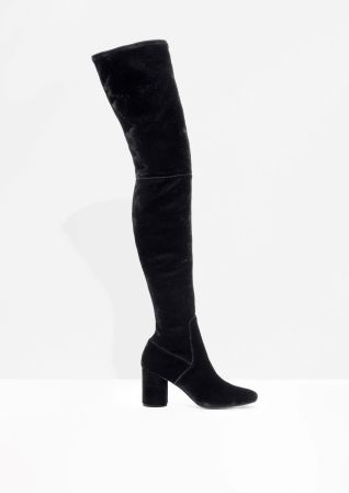 & Other Stories   Velvet Over The Knee Boots