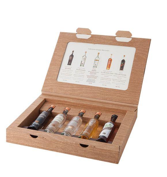 Set Marzadro 4 cl.  5 bottiglie assortite 1 invito visita alla Distilleria valido per 5 persone