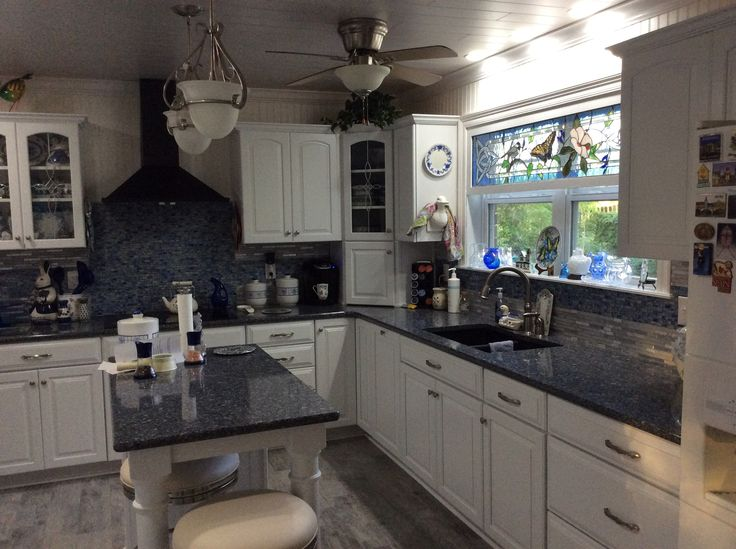 My Blue And White Kitchen Is A Year Old Now Love It So