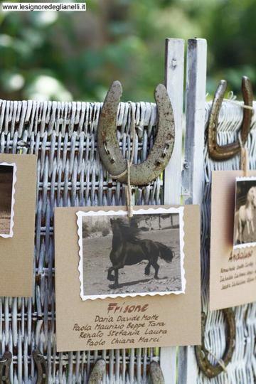 Matrimonio.it | #idea #tableau #country con ferro di cavallo