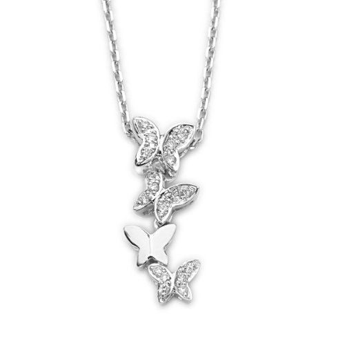 IAD  18K/750 White Gold Butterfly with Diamond by IADJewellery, $384.00