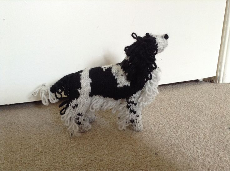 Knitted spaniel