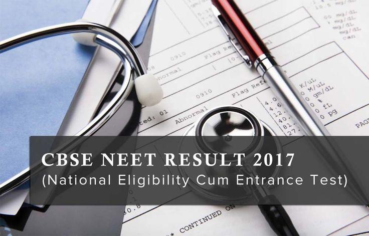 NEET Result 2017 (National Eligibility Cum Entrance Test) #neetresult #cbse #neet #neet2017 #admission #education #result