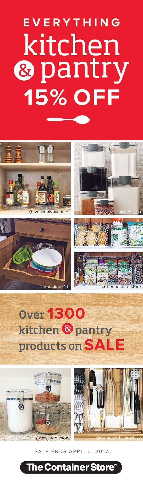 everything in kitchen and pantry is off with more than products iu0027s the perfect time to get your kitchen organized but hurry sale ends april