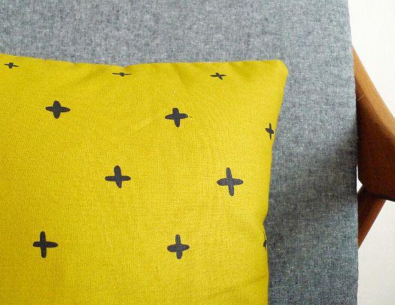SALE -  Golden Ochre Plus Pillow - 13 x 13 in.