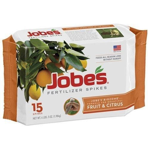 Jobe's Fruit And Citrus Fertilizer Spikes 15 Count