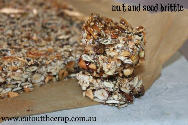 Cut Out The Crap | nut and seed brittle