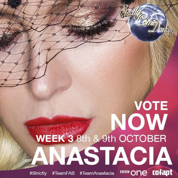 Support Anastacia on her third week of BBC Strictly Come Dancing live shows this weekend, October 8th-9th, 2016 from 6:45pm and 7:15pm, respectively (GMT/PT/UK) using hashtags #TeamAnastacia #TeamFAB #Strictly & watch it with us on www.anastaciafanclub.com.pt  Note: Votes available for U.K residents only!