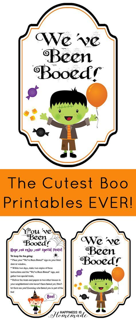 Free You've Been Booed Printables! - Happiness is Homemade                                                                                                                                                                                 More