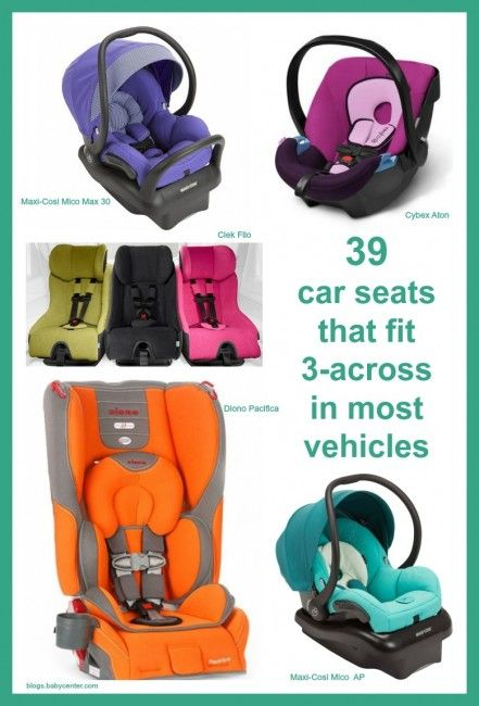 39 Car Seats that fit 3-across in most vehicles